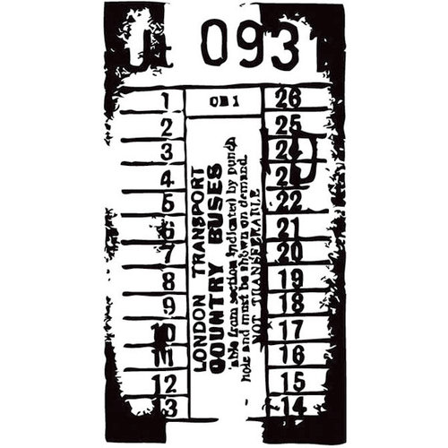 Hampton Art - 7 Gypsies - Wood Mounted Stamps - Ticket Stub