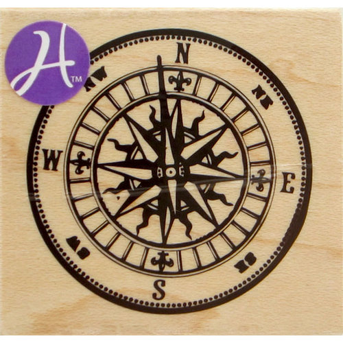 Hampton Art - 7 Gypsies - Wood Mounted Stamps - Compass