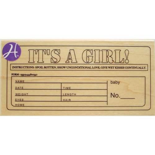 Hampton Art - 7 Gypsies - Wood Mounted Stamps - It's a Girl