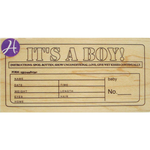 Hampton Art - 7 Gypsies - Wood Mounted Stamps - It's a Boy