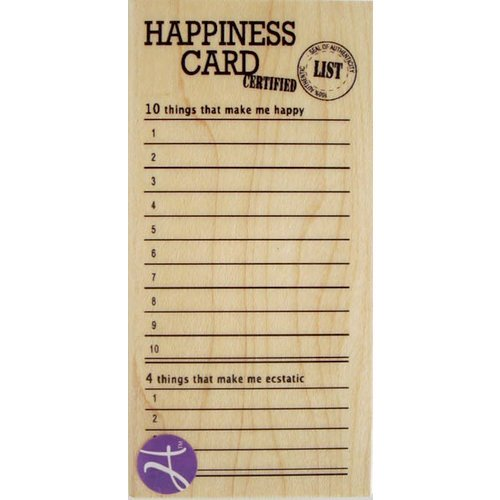Hampton Art - 7 Gypsies - Wood Mounted Stamps - Happiness Card