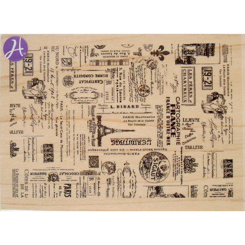 Hampton Art - 7 Gypsies - Wood Mounted Stamps - Passage to France