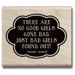 Hampton Art - Hot Fudge Studio - Wood Mounted Stamp - Good Girls Gone Bad