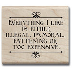Hampton Art - Hot Fudge Studio - Wood Mounted Stamp - Everything I Like