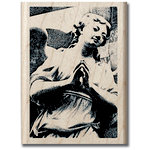 Hampton Art - Art Etc - Wood Mounted Stamp - Praying Angel