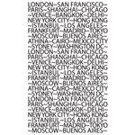 Hampton Art - 7 Gypsies - Clear Acrylic Stamps - World Travel Words