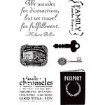 Hampton Art - 7 Gypsies - Clear Acrylic Stamps - Passport