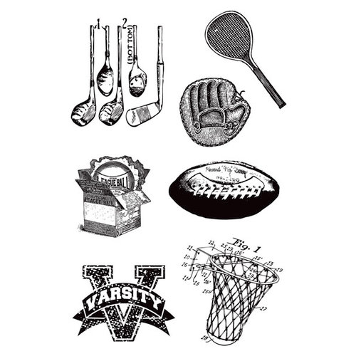 Hampton Art - 7 Gypsies - Clear Acrylic Stamps - Varsity