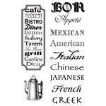 Hampton Art - 7 Gypsies - Clear Acrylic Stamps - Cuisines