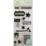 Hampton Art - Echo Park - Clear Acrylic Stamps - Bundle of Joy Boy