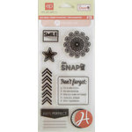 Hampton Art - Echo Park - Clear Acrylic Stamps - Oh Snap