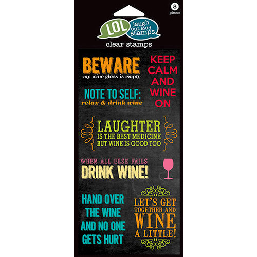 Hampton Art - Laugh Out Loud Stamps - Clear Acrylic Stamps - Wine On