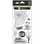 Hampton Art - Clear Acrylic Stamps - Kelly Panacci - Halloween Spiders