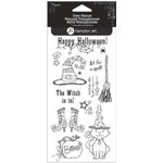 Hampton Art - Clear Acrylic Stamps - Halloween - If the Witch is In