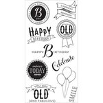 Hampton Art - Clear Acrylic Stamps - Celebrate Birthday