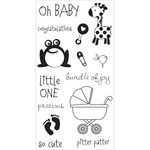 Hampton Art - Clear Acrylic Stamps - Oh Baby