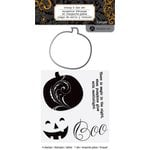Hampton Art - Halloween Collection - Designer Die and Clear Acrylic Stamps Set - Pumpkins