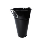 Hampton Art - Tin Vase with Handle - Small - Black