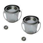 Hampton Art - Mini Paint Can - 2 Pack - Silver