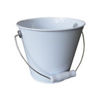 Hampton Art - Tin Pail - Medium - White