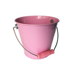 Hampton Art - Tin Pail - Medium - Pastel Pink