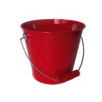 Hampton Art - Tin Pail - Medium - Red