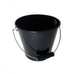 Hampton Art - Tin Pail - Medium - Black