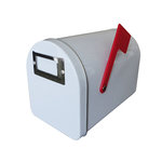 Hampton Art - Tin Mailbox - Small - White