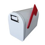 Hampton Art - Tin Mailbox - Medium - White