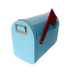 Hampton Art - Tin Mailbox - Medium - Pastel Blue