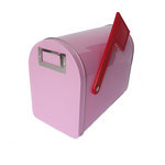 Hampton Art - Tin Mailbox - Medium - Pastel Pink