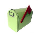 Hampton Art - Tin Mailbox - Medium - Pastel Lime