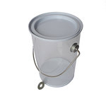 Hampton Art - Plastic Paint Can with Tin Lid - Small - White