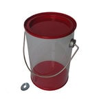 Hampton Art - Plastic Paint Can with Tin Lid - Small - Red