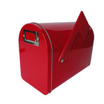 Hampton Art - Tin Mailbox - Medium - Red