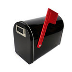 Hampton Art - Tin Mailbox - Medium - Black