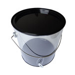 Hampton Art - Plastic Paint Can with Tin Lid - Large - Black