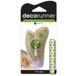 Deco Runner - Decorative Tape Runner - Large Green Polka Dots