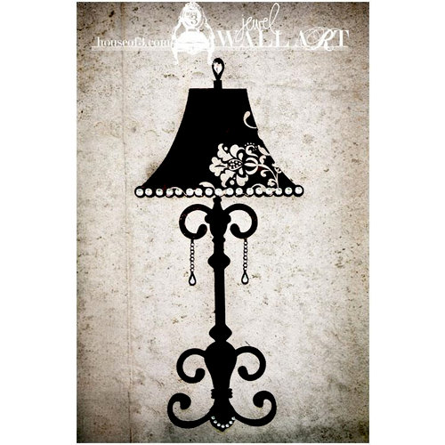 House Of 3 - Heidi Swapp - Jewel Wall Art - Table Lamp
