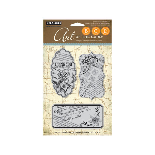 Hero Arts - Art of the Card - Repositionable Rubber Stamps - Le Journal