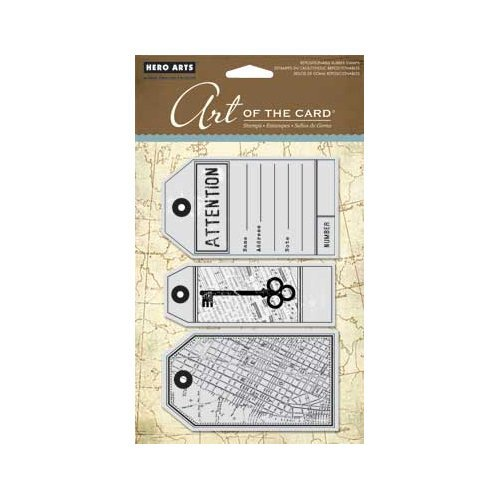 Hero Arts - Art of the Card - Repositionable Rubber Stamps - Attention Tags