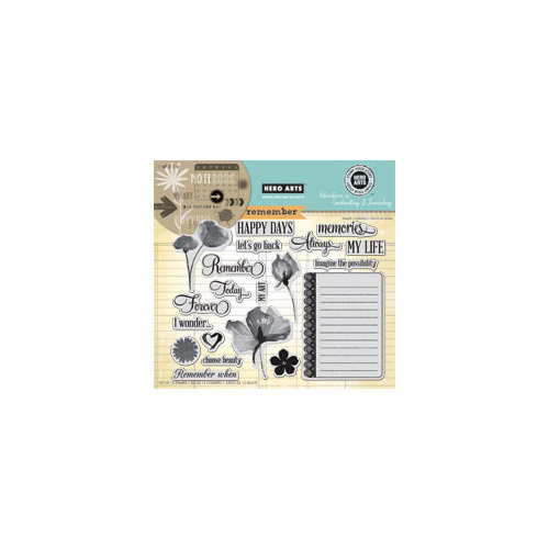 Hero Arts - Stamp Your Story Collection - Repositionable Rubber Stamps - Remember