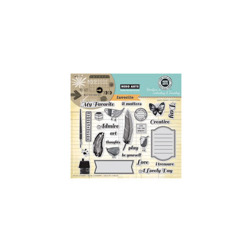 Hero Arts - Stamp Your Story Collection - Repositionable Rubber Stamps - My Favorite