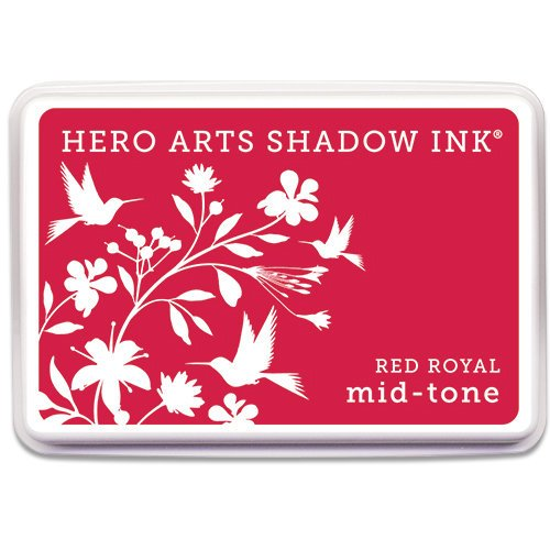 Hero Arts - Dye Ink Pad - Shadow Ink - Mid-Tone - Red Royal