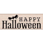 Hero Arts - Woodblock - Halloween - Wood Mounted Stamps - Halloween and Bat