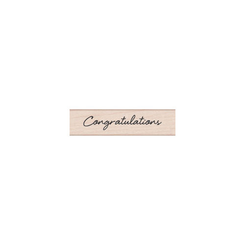 Hero Arts - Woodblock - Wood Mounted Stamps - Congratulations