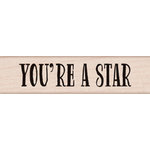 Hero Arts - Wood Block - Wood Mounted Stamp - Youre a Star