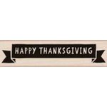 Hero Arts - Woodblock - Wood Mounted Stamps - Thanksgiving Banner