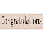 Hero Arts - Woodblock - Wood Mounted Stamps - Congratulations Message