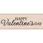 Hero Arts - Woodblock - Wood Mounted Stamps - Happy Valentine's Day Script